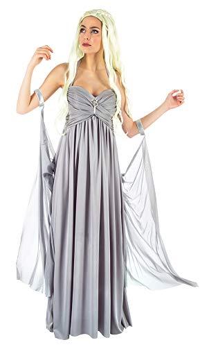 Das Kostümland Mutter der Drachen Kostüm für Damen - Grau - Gr. - Mutter Der Drachen Kostüm