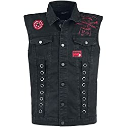 Rock Rebel by EMP Life of An Easy Rider Chaleco Negro M