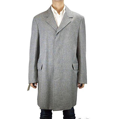 cappotto-uomo-corto-3-4-52-xl-loro-piana-grigio-quadrettini-cashmere-lana-leggera