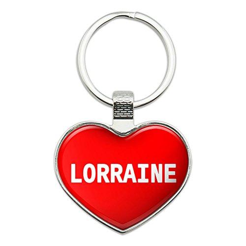 Metall Schlüsselanhänger Ring I Love Herz Namen weiblich L Lona Lorraine (Lorraine Ring)