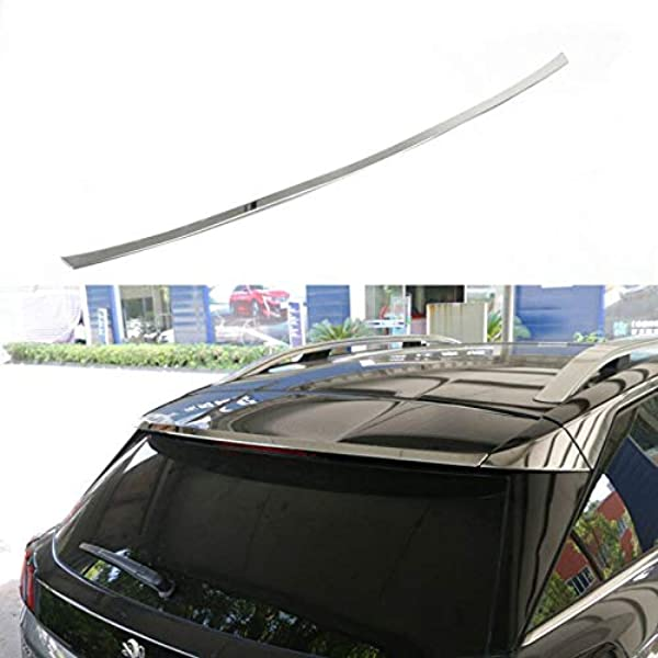 High Flying Chrom Heckspoiler Spoiler Zierleiste Edelstahl Verchromt 1 Stück Für 3008 2017 2018 2019 Auto