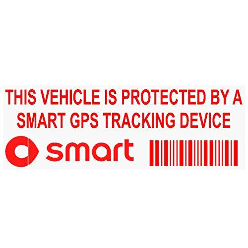5x ppsmartgpsred GPS rot Tracking Gerät Sicherheit Fenster Aufkleber 87x 30mm-car Alarm Tracker (Für Auto-alarm Cabrio)