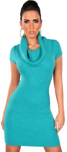 in-style-damen-strickkleid-pullover-kurzrmelig-mit-weitem-rollkragen-einheitsgre-34-40-safir