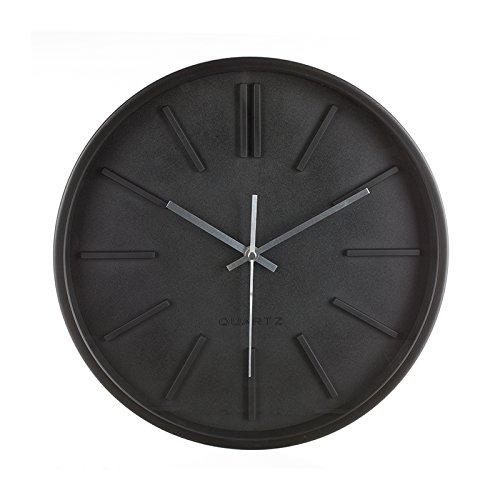 AC-Déco Pendule Murale Design Minimaliste - 35.5 x 4.8 cm - Plastique - Noir