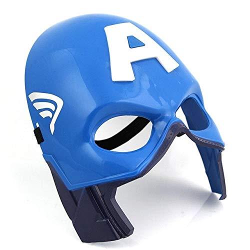 WSCOLL LED Glowing Enfants Masque de Super-héros pour Enfant Avenger Marvel Spiderman Ironman Capitaine Amérique Hulk Batman Parti Masque de Bande dessinée3
