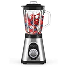 homgeek Blender Smoothie 700W,Stand Blender with 1.5L Tempered Glass Jar, 27,000 RPM and 6 Stainless Steel Blades -[Energy class A +++]