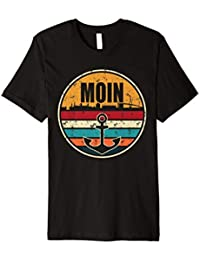 Moin Cooler Spruch T-Shirt I Hafen Anker See Meer Segeln