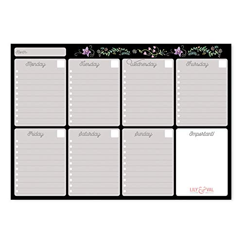 Erik BPSA40012 Weekly Planner da Scrivania - Lily & Van Collection