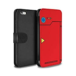 Stuff4® PU-Leder Hülle/Case/Tasche/Cover für Apple iPhone 6S+/Plus/Rot Muster/Anime Cartoon Kodex Kollektion