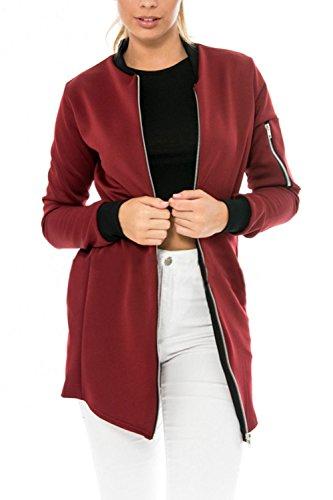 Manches longues veste manteau Casual de Wonem Wine