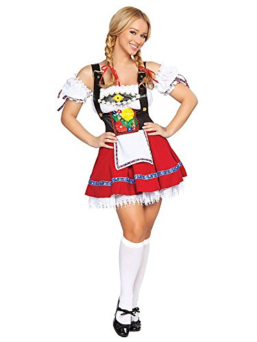 Flirty Fraulein Frauen 'S BEER Girl Kostüm Gr. ML,  - multi-colored