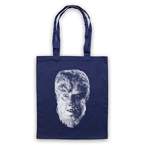 Inspiriert durch Wolf Man Werewolf 1941 Inoffiziell Umhangetaschen Ultramarinblau