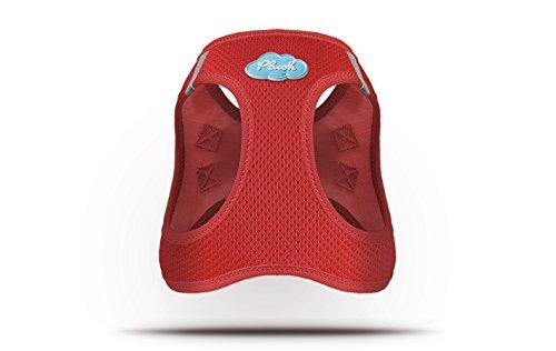 CURLI Brustgeschirr Plush Vest AIR-MESH red für Hunde L (46 – 52 cm) - 2
