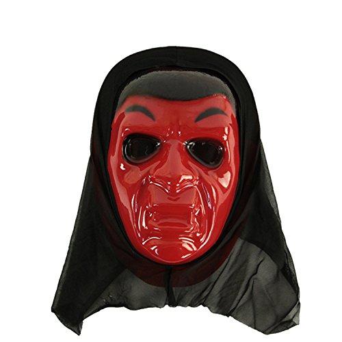 FYX Terrorist Maske Halloween Maske horror Cosplay Scream Ghostface (Kostüm Scream Film 4)
