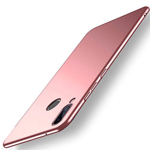 Lite Schale (Vooway Rose Gold Sehr Dünn Hülle Schutzhülle Case + Displayschutzfolie für Huawei P20 Lite (5.84