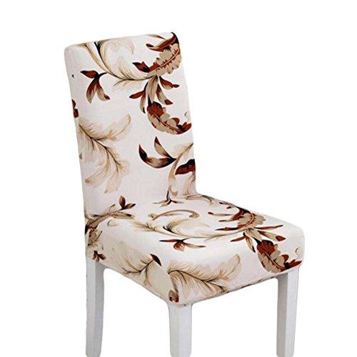Blancho 2 Pieces Stretch Chair Slipcover Housse de Chaise élastique en Tissu One-Piece Slipcover