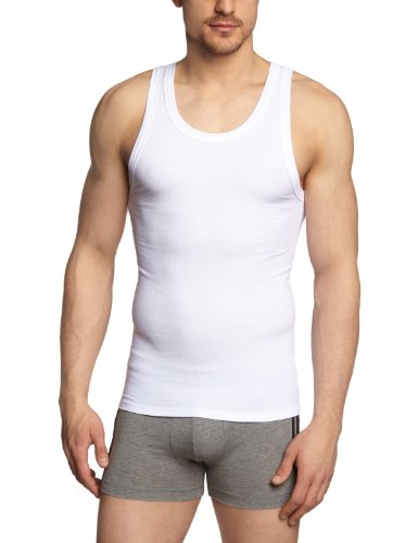 Schiesser - Maillot De Corps - No Homme - Blanc - Weiß (100-Weiss) - FR : Small (Taille Fabricant: S) (Brand size: S) (T-shirt Tank Stretch Top)