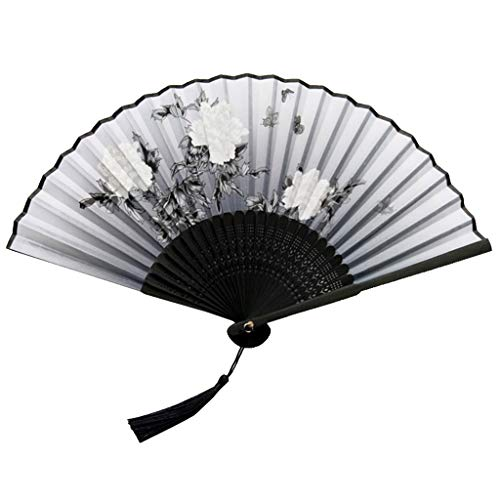 Lazzboy Faltfächer Handfächer Bambusfächer Frauen-bambusfächer Mit Ausgehöhlter Hand Faltbar Fächer Taschenfächer Klappfächer Dekofächer Aus Bambus & Seide(E)