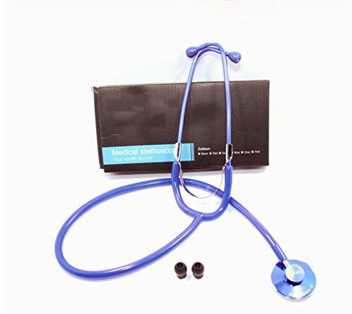 Medizinischer Stethoskop-Einzelner Hauptflacher Kopfhörer-Kind-Erwachsene Schwangerschafts-Herz-Frauen-Gelb-Rot-Blau,Blue