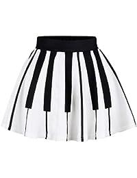 Ocean Plus Niña Colorida Falda Minifalda de Años 50 Vintage Falda de Cintura Alta Baile Tutu Faldas Plisadas