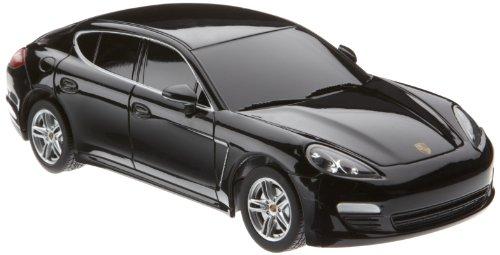 Preisvergleich Produktbild Jamara 404407 - RC Porsche Panamera 1:24, 27 MHz inklusive Fernsteuerung, schwarz