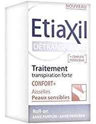 Etiaxil Traitement Détranspirant Confort+ Aisselles Peaux Sensibles Roll-On 15 ml