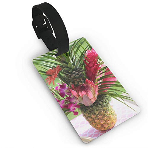 Gepäckanhänger mit Namensausweis Personalausweis Red Pineapple Blossom Travel Luggage Tag Suitcase ID Lablels Accessories Leather Wristband - Pineapple Blossom