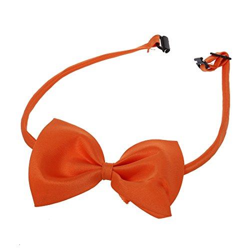 SODIAL (R) Hunde Katzen Haustier Fliege krawatte Halsschmuck Halsband Hundefliege Hundekrawatte dog Pet tie Necktie orange - 5