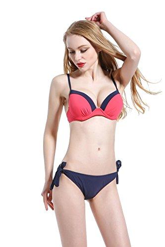 AMYMGLL Frau Bikini zweiteiligen Badeanzug heiße Quelle Badebekleidung Europa und den Vereinigten Staaten dünne hohe Elastizität Umweltschutz Red