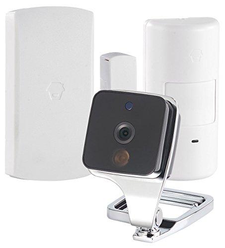 VisorTech Überwachungsset: WLAN-IP-Überwachungskamera mit Bewegungsmelder & Fenster-/Türsensor (WLAN Kamera mit Bewegungsmelder)