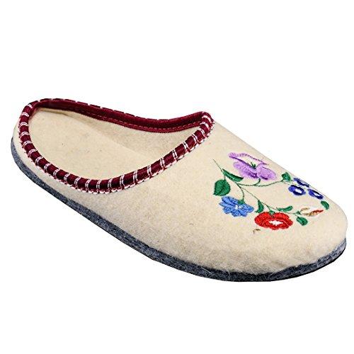 Pantofole In Feltro A Fiore Feltro In Feltro Con Suola In Gomma Fiore Donna 2
