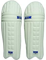 Titanio BDM PU de cuero blancos de bateo de ratón derecho entregó protectora de la pierna de Cricket para hombre