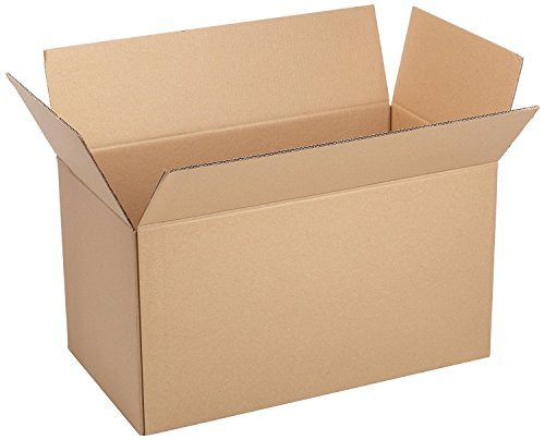 DFS Thick and Durable 4 Big Corrugated 5 Ply Carton Box for Storing, Moving, 31x13x11-inch (Brown)