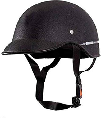 Motofly All Purpose Safety Helmet with Long Strap (Black, Free Size)