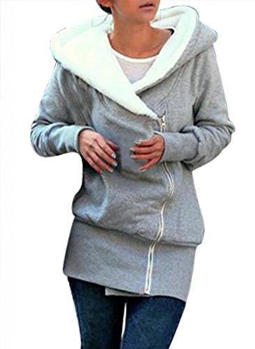 Minetom Damen Kapuzenpullover Herbst Winter Jacke Hooded Mantel Kapuzen Pullover Sweatshirts Pulli...