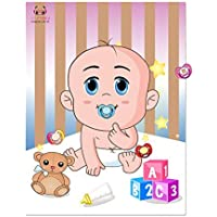 Pin the Dummy on the Baby Game-Baby Shower Games-Extra Large Baby Poster-Blindfold Included--12 Dummy Stickers Included-Ideal for Baby Shower or Birthday Parties Party Panda.