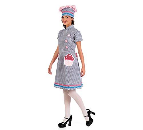 Imagen de disfraz de pastelera de cupcake para mujer