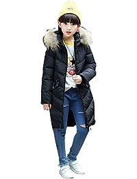 Menschwear Fille Vêtement Hiver Doudoune Manteau Épaissie Veste de Fille Trench-coat Blouson avec Capuche