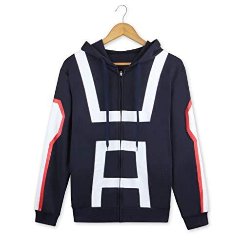 Cosstars My Hero Academia Anime Kapuzenpullover Sweatshirt Cosplay Kostüm Hoodie Jacke Top Mantel Blau Plus Samt ()