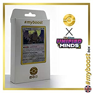 Slaking 170/236 Holo - #myboost X Sun & Moon 11 Unified Minds - Box de 10 cartas Pokémon Inglesas