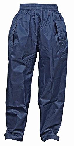 Dry Kids wasserdichte Regenhose, Überhose, für Jungen und Mädchen, aus Polyester, mit Druckknöpfen, in Navy Blau, für Kinder zwischen 9 und 10 Jahren