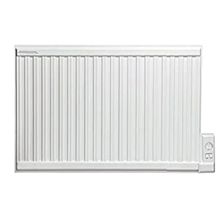 Adax APO Oil Filled Electric Radiator, Wall Mounted, With Thermostat. Heats up to 12.5m2 Room Space, 1000W