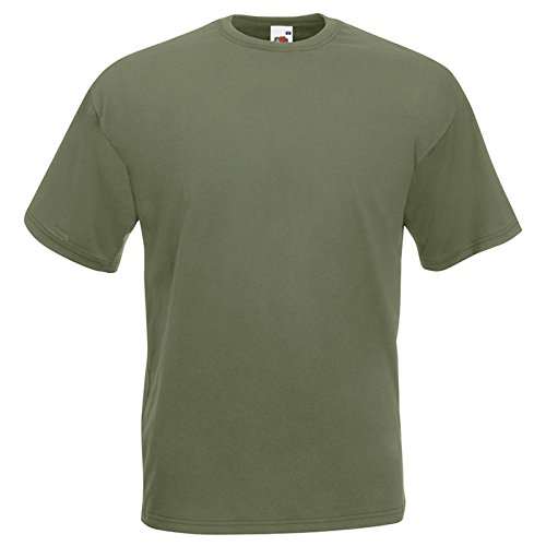 Fruit of the Loom -  T-shirt - Uomo Classic Olive