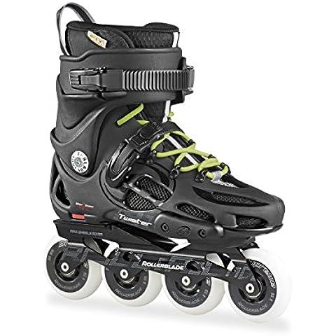 Rollerblade Twister 80 - Patín en Línea, Unisex Adulto, color Negro (Black/Grey), talla 44