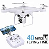 40MINS Flight Time Drone, H68 RC Drone with 720P HD Camera Live Video