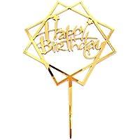 fish Feliz Cumpleaños Sticks acrílico Cake Toppers selecciones de la Torta del Partido del Año Nuevo