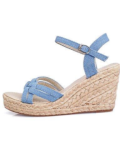 UWSZZ Die Sandalen elegante Comfort schuhe Donna-Sandali - Casual-Zeppe - Zeppa-Denim - Blau Blue