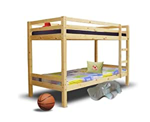 hochbett etagenbett aus holz inkl lattenroste 90x200 cm k che haushalt. Black Bedroom Furniture Sets. Home Design Ideas