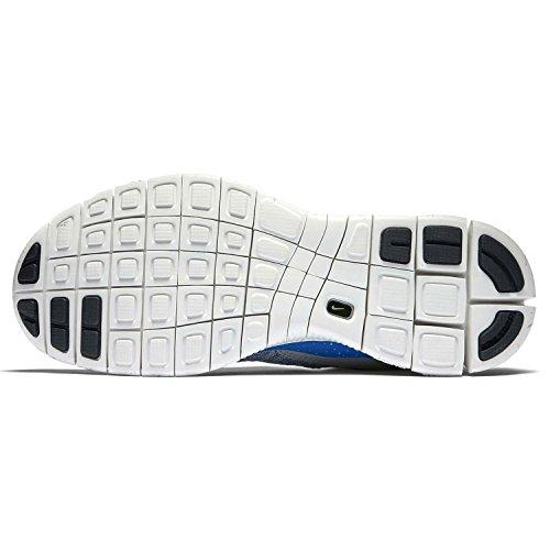 Nike Herren Free Flyknit Mercurial Fußballschuhe, Grau Grau / Blau / Schwarz (Wolf Grau / Gm Ryl-Blk-Vrsty Mz)