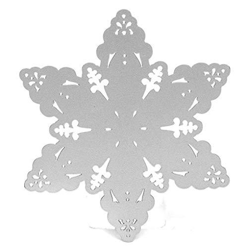 PRENKIN Karten Herstellung Gesenke Cutting Die Nesting-Karten Papierhandpräge Dekoration Schneeflocke geformte Papier-Schnitt -